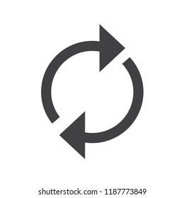 rotating circle arrow. restart icon vector