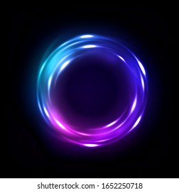 Rotating Multicolor Lights with sparks, isolated and easy to edit. Vector Illustration