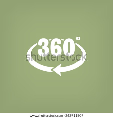 rotation of 360 , web icon. vector design