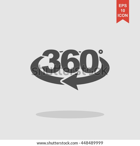 rotation of 360, web icon. vector design