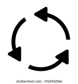 rotation arrow circle icon vector