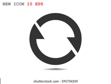 rotation arrow Icon Flat