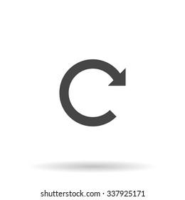 Rotation Arrow. Icon Vector