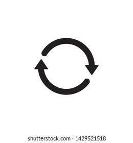Rotation arrow icon vector. Circle symbol icon. Flat design style on white background.