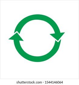 Rotation Arrow Icon Vector  Illustration