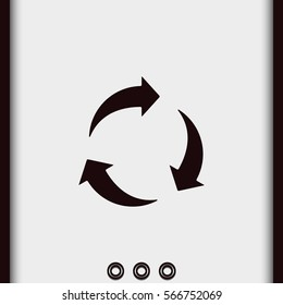 Rotation arrows icon.