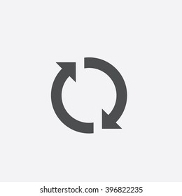 Rotation arrows Icon Vector.