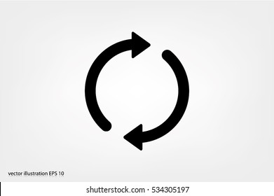 Rotation arrows icon vector illustration eps10
