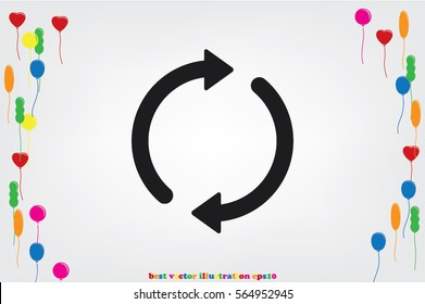 Rotation arrows icon vector illustration