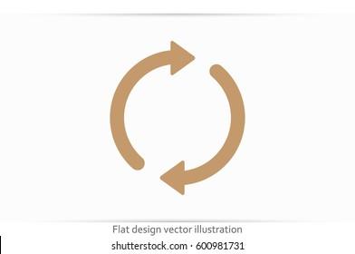 Rotation arrows icon vector illustration eps10.