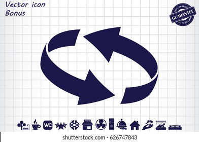 Rotation arrows icon vector illustration eps10.
