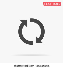 Rotation arrows Icon Vector. Simple flat symbol. Perfect Black pictogram illustration on white background.