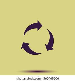 Rotation arrows vector icon.