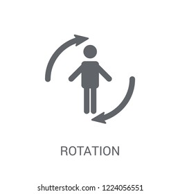 Rotation icon. Trendy Rotation logo concept on white background from Artificial Intelligence collection. Suitable for use on web apps, mobile apps and print media.