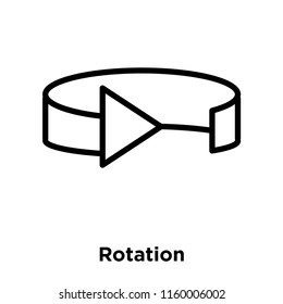Rotation icon vector isolated on white background, Rotation transparent sign , line or linear sign, element design in outline style