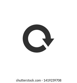 Rotation icon vector. Repeat or reload symbol icon illustration. . Rotate arrow logo design inspiration
