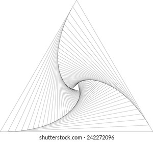 rotation triangle abstract geometric background, vector equilibrium, monochrome logo design element