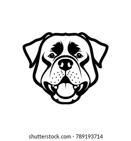 Rottweiler dog - isolated outlined vector illustration