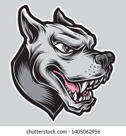 rottweiler logo vector and illustration