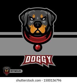 Rottweiler Mascot Gaming Esport Logo Template
