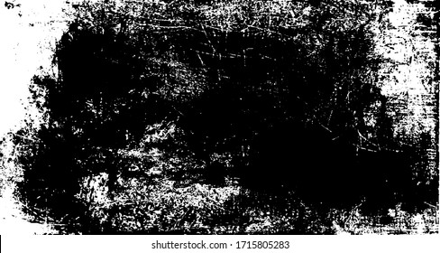 Rough black and white texture vector. Distressed overlay texture. Grunge background. Abstract textured effect. Vector Illustration. Black isolated on white background. EPS10.