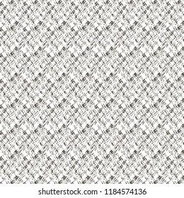 Rough flecked fabric texture. Mesh. Sackcloth. Vector illustration.