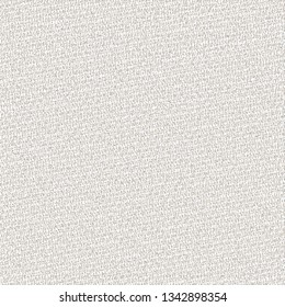Rough light gray fabric. Sturdy canvas texture. Rustic blanket. Cover. Vector illustration.