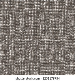 Rough linen background. Brown cotton mesh fabric. Sackcloth. Rustic. Vector illustration.