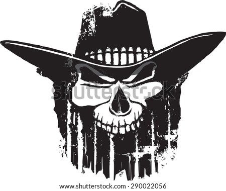 343c4f96516fd Rough Rider Cartoon Outlaw Skull Western Stock Vector (Royalty Free ...