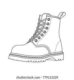 Rough sketched boots. ankle boots