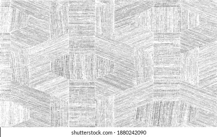 Rough texture. Worn down wallpaper pattern design. Broken plaster grunge damask effect. Distressed overlay texture design. Vector illustration. Eps10.