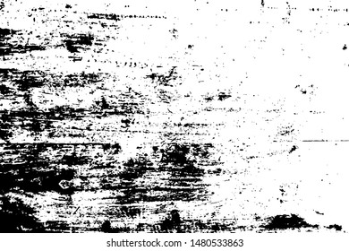 Rough vector texture. Black grit over transparent background. Timber surface trace. Vintage effect overlay. Monochrome weathered texture with grit. Natural noisy backdrop. Grungy abstraction