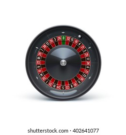 roulette isolated on white realistic casino object