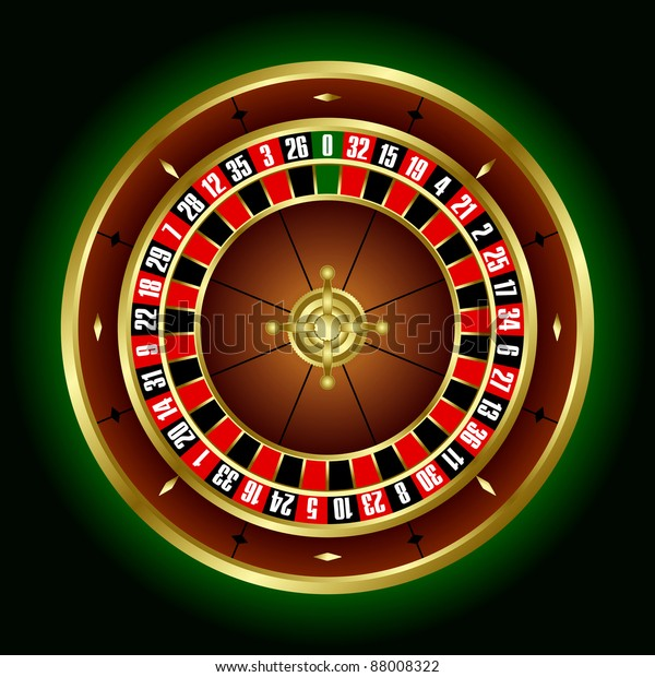 Roulette Wheel European Roulette Vector Stock Vector Royalty Free 88008322