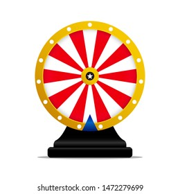 Roulette, wheel of fortune icon. Vector illustration