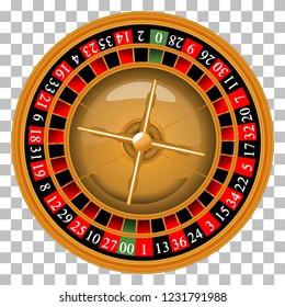 Roulette wheel. Vector illustration. Casino.