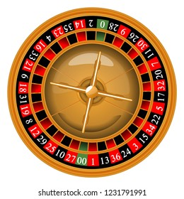 Roulette wheel. Vector illustration. Casino.