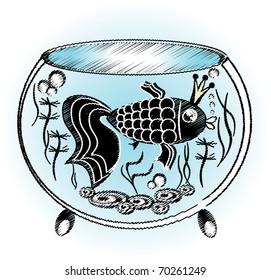 Round aqarium