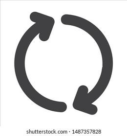 Round arrow icon, reload vector illustration.Eps
