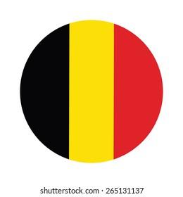 Round belgium flag vector icon isolated, belgium flag button