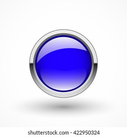 Round blue button