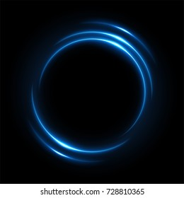 Round blue light twisted, Suitable for product advertising, product design, and other. Vector Illustration