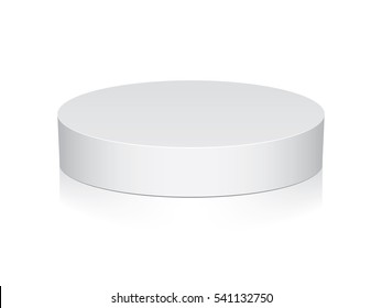 Round box for your design and logo. Easy to change colors. Mock Up Vector Template