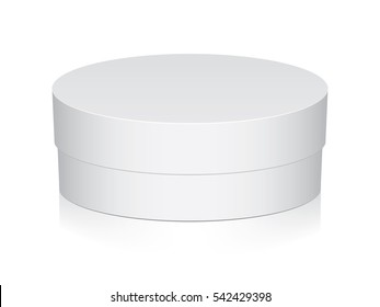 Round box for your design and logo. Easy to change colors. EPS10