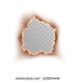 Round burning hole of burning paper