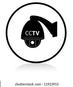 round CCTV sign speed dome - BLACK version