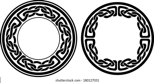 Round Celtic Blank Pattern Border