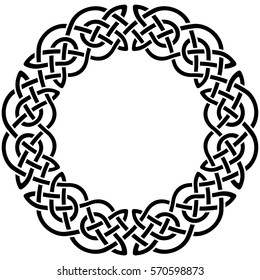 Round Celtic pattern. Element of Scandinavian or Celtic ornament