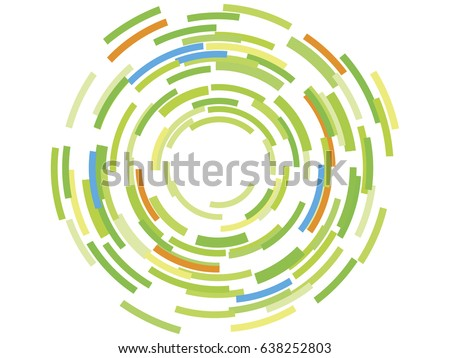 Round Circle Background Design Pieces Coming Stock Vector Royalty