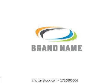 Round circle vector brand logo design concept